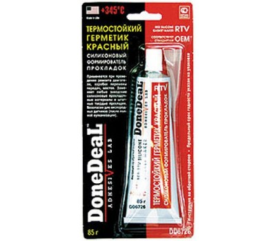 DD6726 Термостойкий красный силиконовый формирователь прокладок Done Deal (85 г)