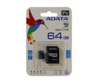 Карта памяти Micro SDXC 64Gb ADATA Premier, Class 10 UНS-I U1